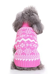 cheap -Dogs Sweater Winter Dog Clothes Blue Pink Costume Corgi Beagle Bulldog Chinlon Character Floral Botanical Snowflake Simple Style Halloween S M L XL XXL