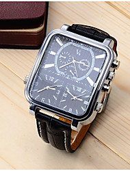 cheap -Men's Sport Watch Dress Watch Analog Quartz Luxury Shock Resistant Cool / One Year / Stainless Steel / Leather