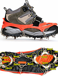 cheap -Traction Cleats Crampons Outdoor Sticky Steel + Rubber Wire Climbing Outdoor Exercise Camping / Hiking / Caving 1 pcs Black Orange