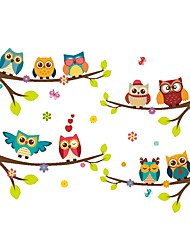 cheap -Decorative Wall Stickers - Animal Wall Stickers Animals / Floral / Botanical Dining Room / Kids Room