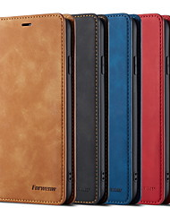 cheap -Case For Apple iPhone XS / iPhone XR / iPhone XS Max Wallet / Card Holder / Flip Full Body Cases Solid Colored PU Leather for  iPhone X/ iPhone 8/7 / iPhone 8 Plus /  iPhone 7 Plus / 6 Plus
