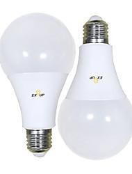 Недорогие -EXUP® 2pcs 18 W Круглые LED лампы 1650 lm B22 E26 / E27 А80 56 Светодиодные бусины SMD 2835 Тёплый белый Холодный белый 220-240 V 110-130 V