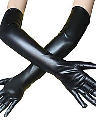 cheap -Zentai Suits Gloves Catsuit Motorcycle Girl Cosplay Adults' Latex Cosplay Costumes Cosplay Halloween Women's White Black Solid Colored Halloween Masquerade / Skin Suit