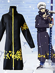 cheap -Inspired by One Piece Trafalgar Law Anime Cosplay Costumes Japanese Cosplay Suits Print Cloak / Hat For Men's