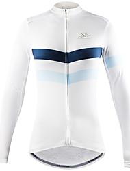 cheap -Mountainpeak Women's Long Sleeve Cycling Jersey Black White Green Bike Top Breathable Sweat-wicking Sports Coolmax® Clothing Apparel / YKK Zipper