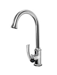 cheap -Kitchen faucet - Single Handle One Hole Chrome Standard Spout / Tall / ­High Arc Centerset Contemporary / Standing Style Kitchen Taps