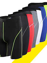 cheap -Men's Compression Shorts Compression Base layer Underwear Shorts Bottoms Lightweight Breathable Quick Dry Soft Sweat-wicking Green Blue Grey Winter Road Bike Mountain Bike MTB Basketball Stretchy