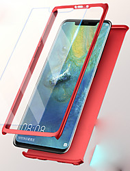 cheap -Case For Huawei Huawei P20 / Huawei P20 lite / Huawei P9 Plus Shockproof Full Body Cases Solid Colored Hard PC