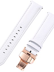 cheap -Genuine Leather / Leather / Calf Hair Watch Band White 17cm / 6.69 Inches / 18cm / 7 Inches / 19cm / 7.48 Inches 1cm / 0.39 Inches / 1.2cm / 0.47 Inches / 1.3cm / 0.5 Inches