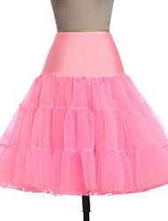 cheap -Petticoat Hoop Skirt Tutu Under Skirt 1950s Pink Ink Blue Ivory Petticoat / Crinoline