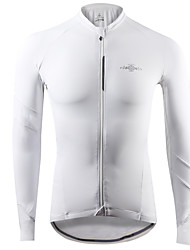 cheap -Mountainpeak Men's Long Sleeve Cycling Jersey Winter Fleece Spandex Dark Grey Gray+White Black / Red Bike Jersey Top Breathable Moisture Wicking Sports Clothing Apparel / Stretchy