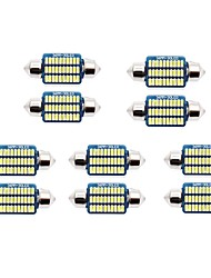 cheap -10pcs 31mm / 36mm Car Light Bulbs 1 W SMD 3014 60-100 lm 21/30 LED License Plate Lights / Interior Lights For universal