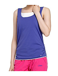 cheap -SCALER® Women's Hiking Tee shirt Sleeveless Outdoor Breathable Quick Dry Stretchy Sweat-Wicking Tee / T-shirt Top Spring Summer Cotton Running Camping / Hiking Exercise & Fitness Purple Yellow Royal