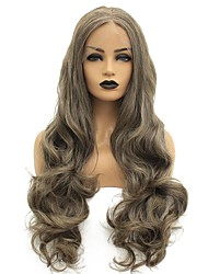 cheap -Synthetic Lace Front Wig Body Wave Middle Part Lace Front Wig Long Brown Synthetic Hair 22-26 inch Women's Heat Resistant Women Hot Sale Brown / Glueless