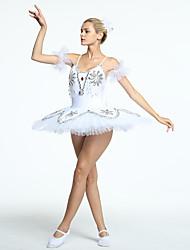 cheap -Ballet Tutus & Skirts Women's Training / Performance Organza / Tulle Crystals / Rhinestones Sleeveless Dress