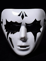 cheap -White Mask Halloween Mask Inspired by Melbourne Shuffle Dance Scary Movie Black White Halloween Halloween Masquerade Adults' Men's Women's