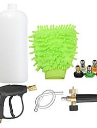 cheap -Car Wash Gun High Pressure Washer Gun Water Jet Snow Foam Lance Cannon Glove 5 Nozzle Tips