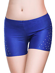 cheap -Belly Dance Bottoms Women's Training / Performance Polyester Crystals / Rhinestones Natural Shorts