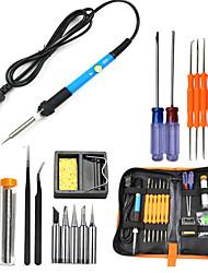 cheap -60W Electric Soldering Iron Welding Tool Kit Solder Wire Tweezer