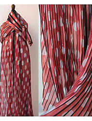 cheap -Chiffon Geometric Pattern 145 cm width fabric for Special occasions sold by the 0.5m