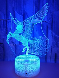 cheap -Unicorn 3D Nightlight Cute Color-Changing Touch USB 1pc