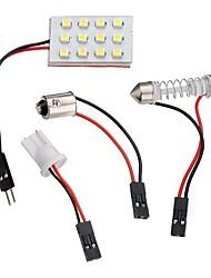 abordables -1pcs Automatique Ampoules électriques SMD 1210 12 LED Éclairage intérieur / Feux de position latéraux Pour Universel / Volkswagen / Toyota Toutes les Années