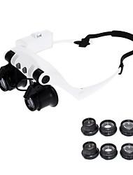 abordables -10x 15x 20x 25x portant des lunettes yeux illuminés loupe loupe montre réparation loupe avec lumières led