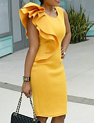 cheap -2019 New Arrival Dresses Women's Bodycon Dress Elbise Vestidos Robe Femme Yellow XXXXL XXXXXL XXXXXXL