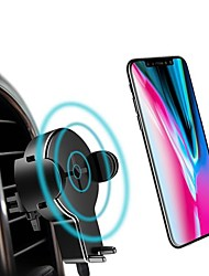 cheap -ROCK 360 Degree Rotation Qi Wireless Car Charger Phone Holder With LED Indicator For iPhone X S8