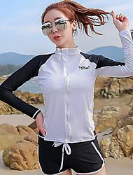 cheap -YOBEL Women's Rashguard Swimsuit Neoprene Swimwear Quick Dry Full Body 4-Piece - Swimming Diving Snorkeling Solid Colored Letter & Number Autumn / Fall Spring Summer / Winter