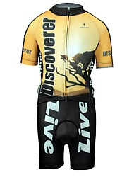 cheap -ILPALADINO Boys' Girls' Short Sleeve Cycling Jersey with Shorts - Kid's Black / Yellow Bike Clothing Suit Breathable Quick Dry Sweat-wicking Sports Lycra Fashion Mountain Bike MTB Road Bike Cycling