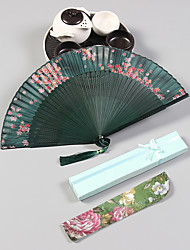 Недорогие -Взрослые Муж. Жен. азиатский кисточка В китайском стиле Косплэй Kостюмы Назначение Для вечеринок На каждый день Подарок Бамбук Парча Складной ручной вентилятор