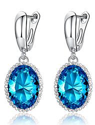cheap -Women's Cubic Zirconia Drop Earrings Chandelier Drop Stylish Luxury Earrings Jewelry Purple / Blue / Royal Blue For Party Gift Date 1 Pair