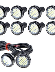 cheap -10pcs Wire Connection Motorcycle / Car Light Bulbs 5 W SMD 4014 250 lm 12 LED Fog Lights / Daytime Running Lights / License Plate Lights For universal