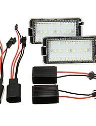Недорогие -1pcs Автомобиль Лампы 2 W 18 Светодиодная лампа Подсветка для номерного знака Назначение Seat Cordoba / Toledo / Ibiza