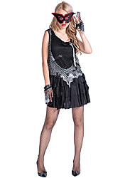 cheap -Zombie Dress Cosplay Costume Adults' Women's Dresses Halloween Halloween Carnival Masquerade Festival / Holiday Polyester Black Carnival Costumes Patchwork