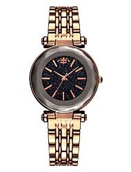 cheap -Women's Wrist Watch Quartz Stainless Steel Black / Blue / Brown Water Resistant / Waterproof Creative Analog Vintage Fashion - Brown Blue Rose Gold
