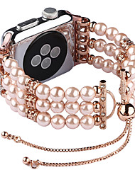 cheap -Fashion Pearl Wristband Strap for Apple Watch Bands 38/40mm 42/44mm Series 4 3 2 1 Handmade Bracelet