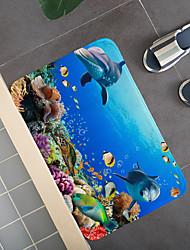 cheap -Bathroom Bath Mats Multi-Color Novelty Cartoon Coral Velve Cute