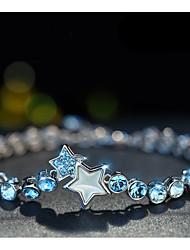 cheap -Women's Crystal Bracelet Pendant Bracelet Starfish Tropical Bikini Fashion Rhinestone Bracelet Jewelry White For Daily Going out