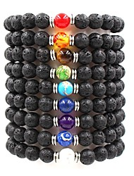 cheap -Men's Women's Purple Brown Green Natural Stone Bead Bracelet Beads Ball Chakra Cheap Hip-Hop Boho equilibrio Stone Bracelet Jewelry Brown / Red / Green For Wedding Ceremony