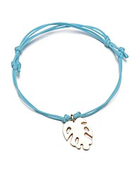 cheap -Women's Loom Bracelet Pendant Bracelet Rope Leaf Simple Fashion Cord Bracelet Jewelry Brown / Pink / Light Blue For Daily Office & Career