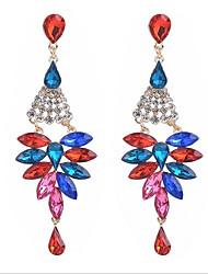 cheap -Women's Drop Earrings Dangle Earrings Pear Cut Drop Stylish Romantic Earrings Jewelry Black / Rainbow / Champagne For Party Street 1 Pair