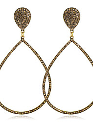 cheap -Women's Drop Earrings Classic Stylish Gold Plated Earrings Jewelry Gold / Black / Gold / Silver For Party Carnival 1 Pair