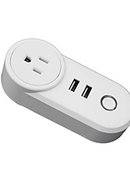 cheap -Smart Socket / Smart Plug Timing Function / with USB Ports / Quick Charge 2.0 12pcs ABS+PC / 750°C / anti-flame retardant Remote Control / WiFi-Enabled / APP Amazon Alexa Echo / Google Assistant