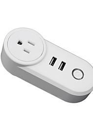 Недорогие -Розетка / Smart Plug Функция синхронизации / с USB-портами / Быстрая зарядка 2.0 12шт ABS + PC / 750 ° С / анти-огнестойкий Дистанционное управление / WiFi-Enabled / ПРИЛОЖЕНИЕ Amazon Alexa Echo