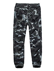 cheap -Men's Jogger Pants Joggers Running Pants Beam Foot Sports Pants / Trousers Sweatpants Cargo Pants Running Fitness Jogging Quick Dry Plus Size Camo Dark Grey Orange+White Green / Stretchy