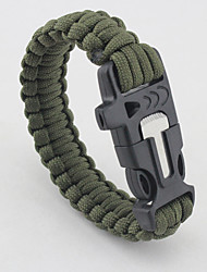 cheap -Paracord Bracelet Ropes Outdoor Easy to Carry Collapsible Ultra Light (UL) Rope Camping / Hiking Outdoor Exercise Khaki Rainbow Dark Green 1 pcs