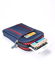 Недорогие -6,3-дюймовый чехол для универсального держателя карты талии сумка / талия сплошной цветной мягкой ткани оксфорд