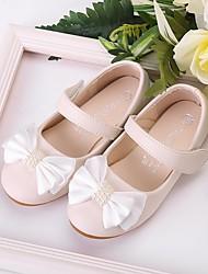 cheap -Girls' Comfort / Flower Girl Shoes Microfiber Flats Toddler(9m-4ys) / Little Kids(4-7ys) Bowknot / Sparkling Glitter Light Pink / Ivory Spring / Fall / Party & Evening / Rubber